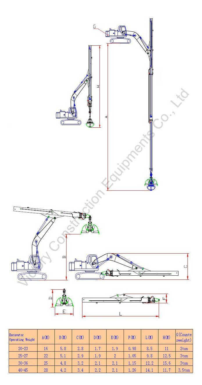 telescopic-dipper-arm-specification